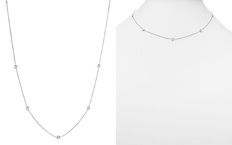 "Roberto Coin 18K White Gold Diamond Station Necklace, 18"" - Bloomingdale's_2"