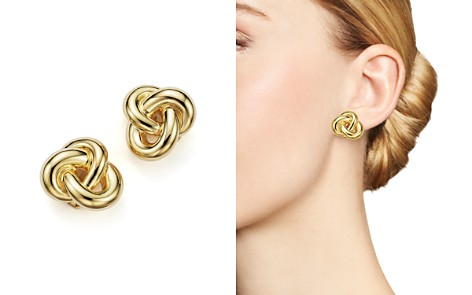 Roberto Coin 18K Yellow Gold Knot Earring - Bloomingdale's_2