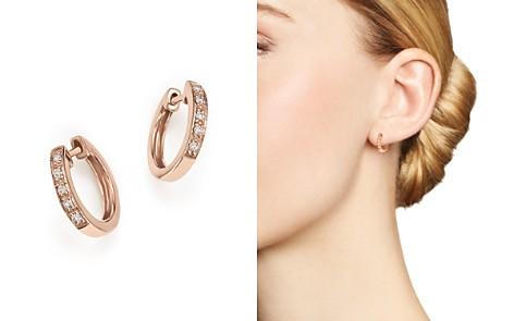 KC Designs Diamond Mini Huggie Hoops in 14K Rose Gold, .10 ct. t.w. - Bloomingdale's_2
