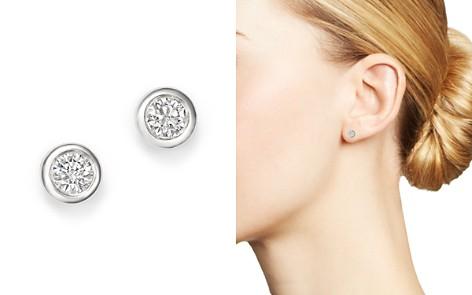 KC Designs 14K White Gold Diamond Bezel Stud Earrings - Bloomingdale's_2