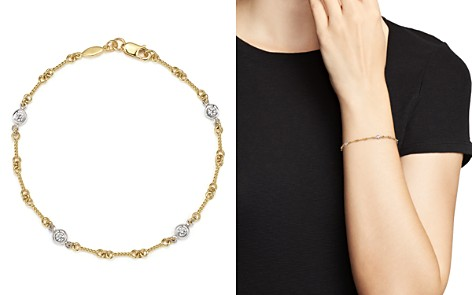 Roberto Coin 18K Yellow Gold and Diamond Station Bracelet - Bloomingdale's_2