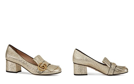 Gucci Women's Metallic Mid-Heel Pumps	- Bloomingdale's_2