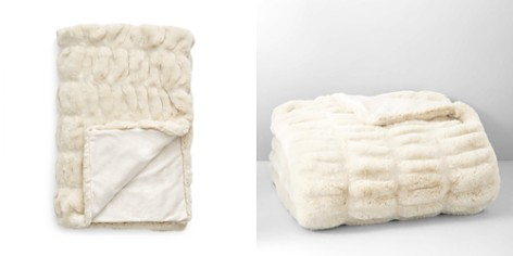 Hudson Park Sculpted Faux Fur Throw - 100% Exclusive - Bloomingdale's_2