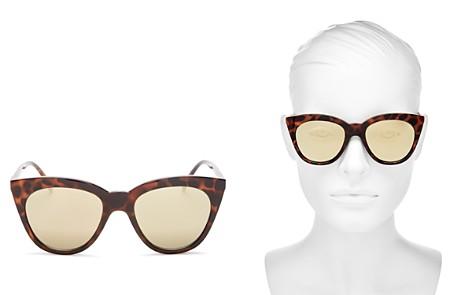 Le Specs Women's Halfmoon Magic Mirrored Cat Eye Sunglasses, 53mm - Bloomingdale's_2