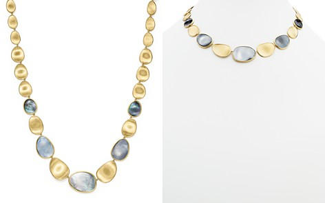 """Marco Bicego 18K Yellow Gold Lunaria Black Mother-Of-Pearl Necklace, 18"""" - 100% Exclusive - Bloomingdale's_2"""