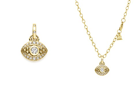 Evil eye jewelry bloomingdales temple st clair 18k yellow gold evil eye pendant with diamonds bloomingdales2 aloadofball Choice Image