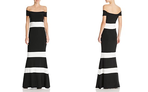 Avery G Striped Off-The-Shoulder Gown - Bloomingdale's_2