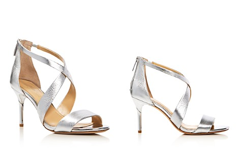 Imagine VINCE CAMUTO Pascal Metallic Crisscross High-Heel Sandals - Bloomingdale's_2
