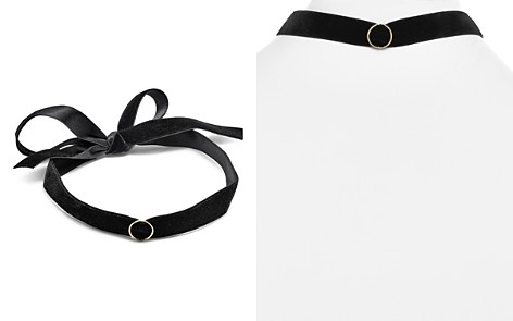 "MATEO 14K Yellow Gold Circle and Velvet Choker, 36"" - Bloomingdale's_2"