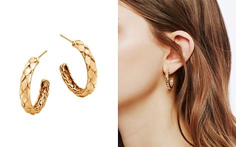John Hardy 18K Yellow Gold Legends Cobra Small Hoop Earrings - Bloomingdale's_2