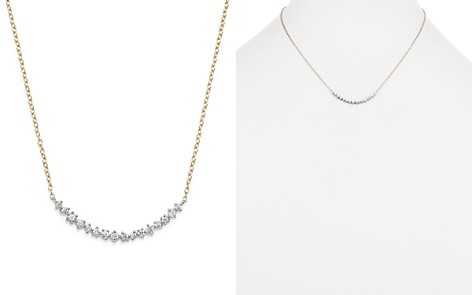 Diamond Scatter Necklace in 14K Yellow and White Gold, .50 ct. t.w. - Bloomingdale's_2