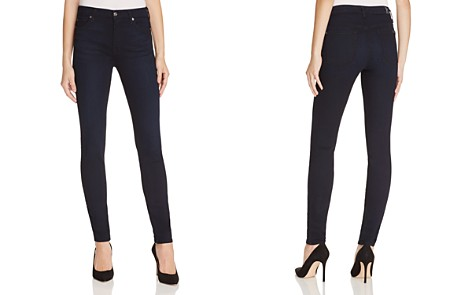 7 For All Mankind b(air) High Waisted Skinny Jeans in Navy - Bloomingdale's_2