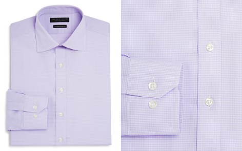 The Men's Store at Bloomingdale's Textured Check Regular Fit Basic Dress Shirt - 100% Exclusive_2