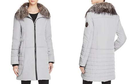 Maximilian Furs Fox Fur Collar Puffer Coat - 100% Exclusive - Bloomingdale's_2