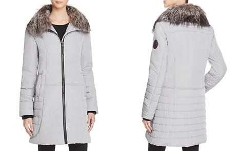 Maximilian Furs Fox Fur Collar Puffer Coat - 100% Exclusive - Bloomingdale's_2