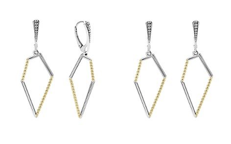 LAGOS 18K Gold and Sterling Silver Signature Caviar Pentagon Earrings - Bloomingdale's_2