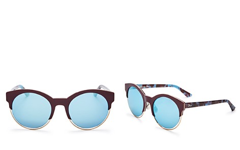 Dior Sideral 1 Mirrored Round Sunglasses, 53mm - Bloomingdale's_2