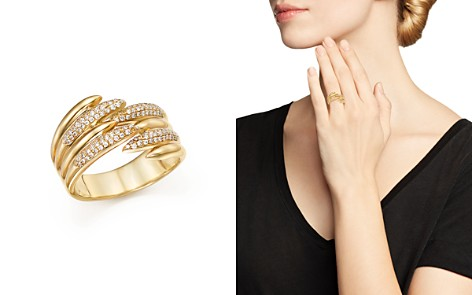 Diamond Micro Pavé Open Band in 14K Yellow Gold, .25 ct. t.w. - 100% Exclusive - Bloomingdale's_2