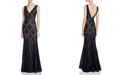Avery G V-Back Lace Gown - Bloomingdale's_2