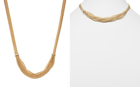 """14K Yellow Gold Braided Mesh Necklace, 17"""" - 100% Exclusive - Bloomingdale's_2"""
