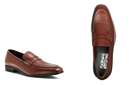 Salvatore Ferragamo Men's Fiorino 2 Textured Leather Loafers - Bloomingdale's_2