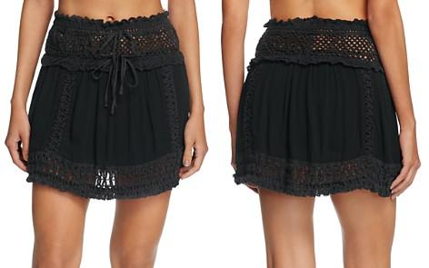 Surf Gypsy Crochet Fringe Mini Skirt Swim Cover-Up - Bloomingdale's_2