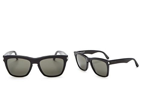 Saint Laurent Devon Oversized Square Sunglasses, 55mm - Bloomingdale's_2