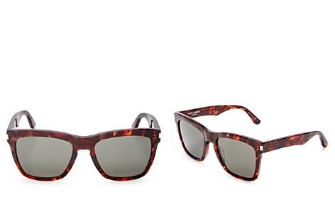 Saint Laurent Devon Oversized Square Sunglasses, 58mm - Bloomingdale's_2