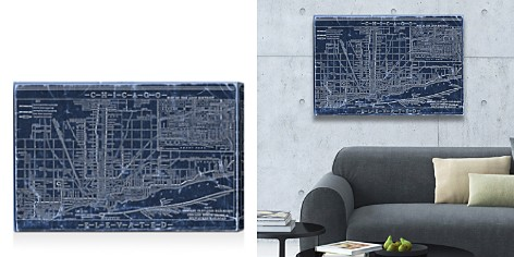Oliver Gal Chicago Railroad Blueprint Map Wall Art - Bloomingdale's_2