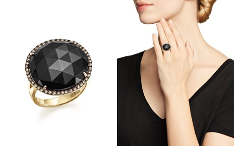 Onyx Statement Ring with White and Brown Diamonds in 14K Yellow Gold - 100% Exclusive - Bloomingdale's_2