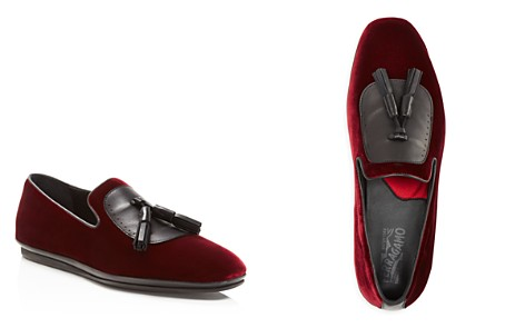 Salvatore Ferragamo Finnegan Velvet Tassel Dress Shoes - Bloomingdale's_2