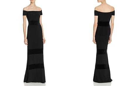 Avery G Velvet-Detail Gown - Bloomingdale's_2