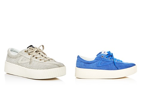 Tretorn Women's Nylite Bold Perforated Nubuck Leather Lace Up Platform Sneakers - Bloomingdale's_2