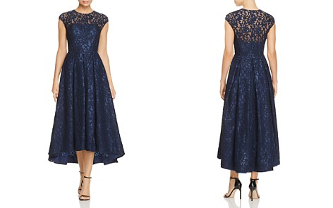 Carmen Marc Valvo Infusion Embellished Lace High Low Dress - Bloomingdale's_2