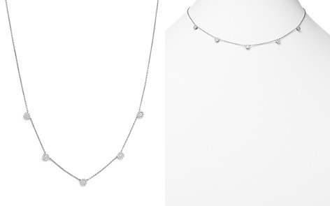 Diamond Micro Pavé Necklace in 14K White Gold, .50 ct. t.w. - 100% Exclusive - Bloomingdale's_2