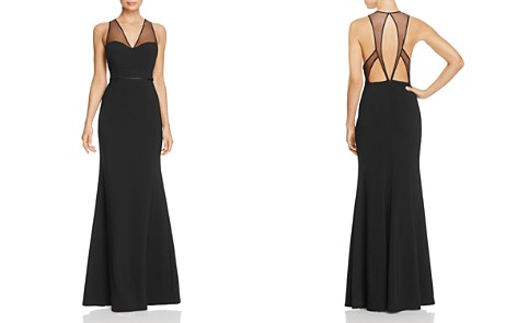 JS Collections Illusion Cutout Back Gown - Bloomingdale's_2