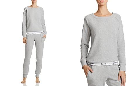 Calvin Klein Modern Cotton Crewneck Lounge Sweatshirt & Jogger Pants - Bloomingdale's_2