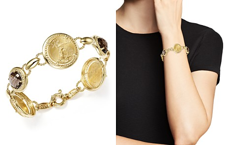 Smoky Quartz Coin Bracelet in 14K Yellow Gold - 100% Exclusive - Bloomingdale's_2