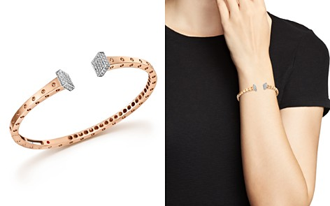 Roberto Coin 18K White and Rose Gold Pois Moi Chiodo Bangle with Diamonds - 100% Exclusive - Bloomingdale's_2