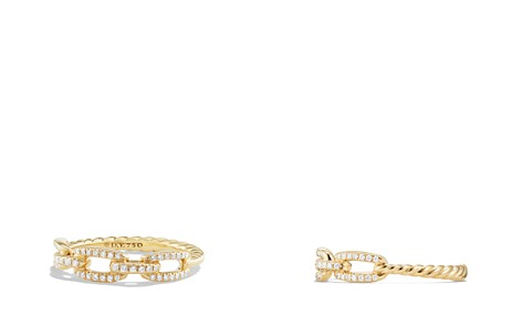 David Yurman Stax Single Row Pavé Chain Link Ring with Diamonds in 18K Gold - Bloomingdale's_2