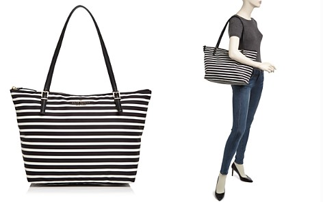 kate spade new york Watson Lane Maya Striped Nylon Tote - Bloomingdale's_2