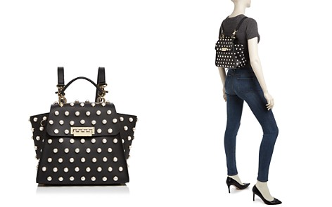 ZAC Zac Posen Eartha Iconic Faux-Pearl Convertible Leather Backpack - Bloomingdale's_2