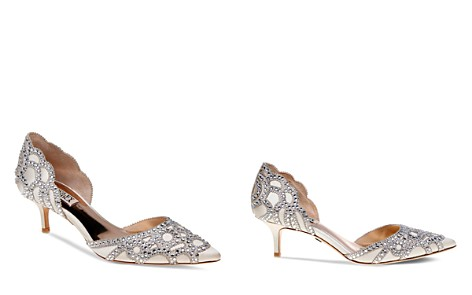Badgley Mischka Ginny Embellished d'Orsay Pointed Toe Pumps - Bloomingdale's_2