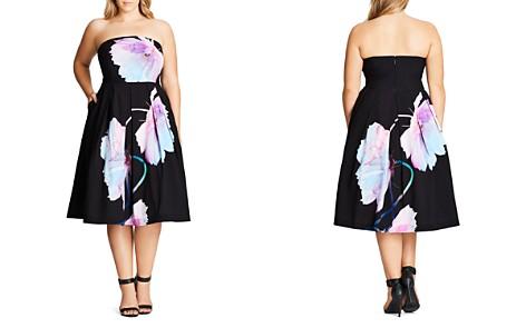 City Chic Pretty Bloom Dress - Bloomingdale's_2