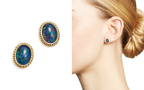 Bezel Set Stud Earrings in 14K Yellow Gold - Bloomingdale's_2