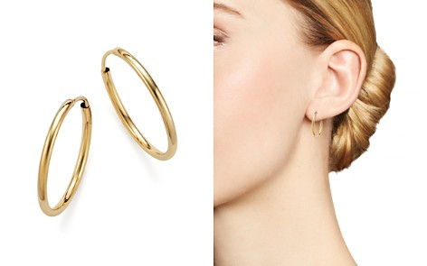 14K Yellow Gold Endless Hoop Earrings - 100% Exclusive - Bloomingdale's_2