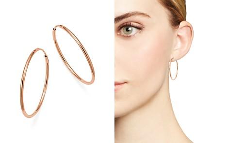 Bloomingdale's 14K Rose Gold Endless Hoop Earrings - 100% Exclusive_2