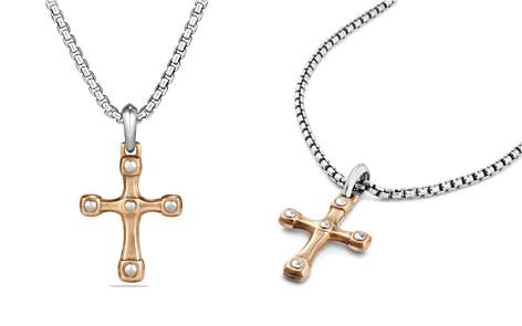 David Yurman Anvil Cross Pendant with Bronze - Bloomingdale's_2