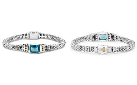 LAGOS 18K Gold and Sterling Silver Caviar Color Bracelet with London Blue Topaz - Bloomingdale's_2
