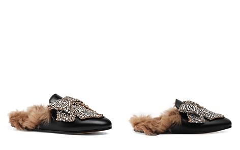 Gucci Women's Princetown Lamb Fur Bow Mules - Bloomingdale's_2